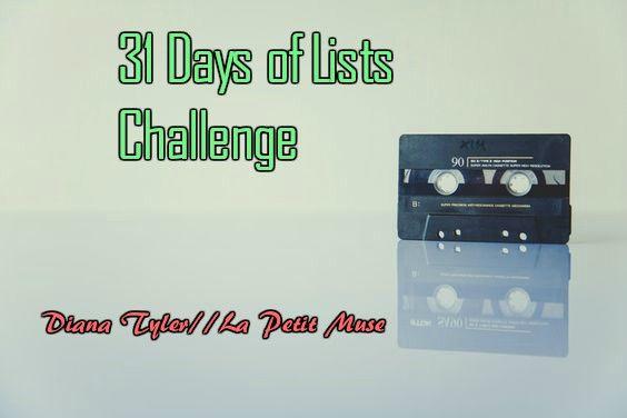 31 days of lists challenge: days 11-15