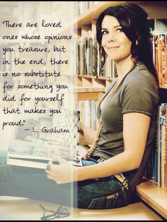 Lauren Graham -- such a perfect quote.