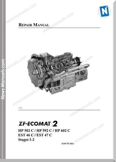 Zf Ecomat2 Hp502 592 602c Est46 47c Repair Manual In 2020 Repair Manuals Repair Manual