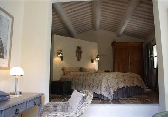 bedroom at Saumane, Provence, South Of France