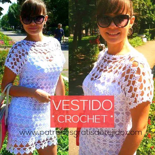 Vestido de Encaje a Crochet / Paso a paso