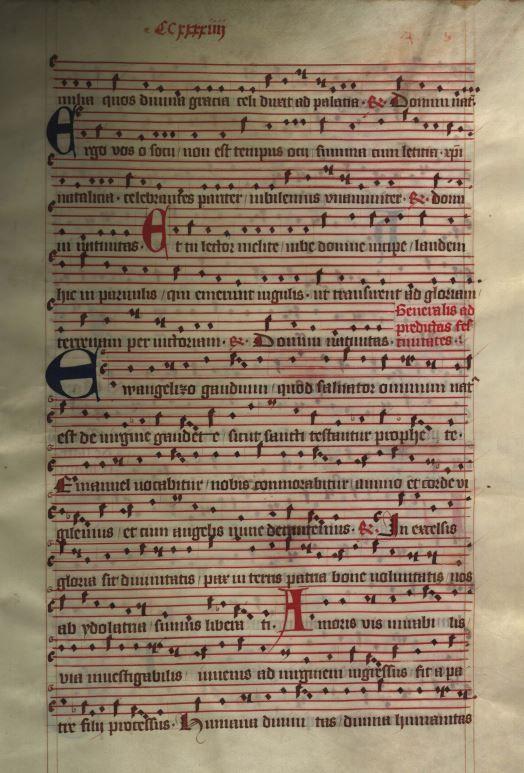Moosburger Graduale um 1360 Moosburg Cim. 100 (= 2° Cod. ms. 156)  Folio 487