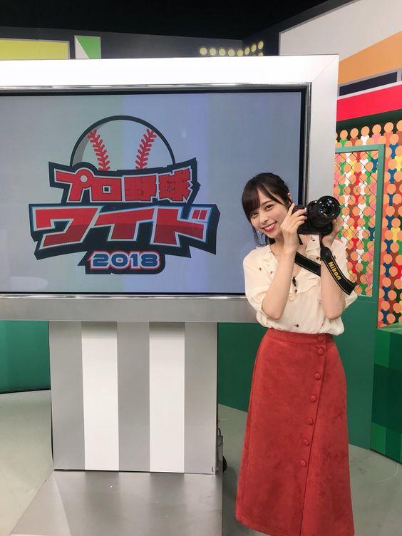 プロ野球のニュース番組に出演する山本萩子アナ!