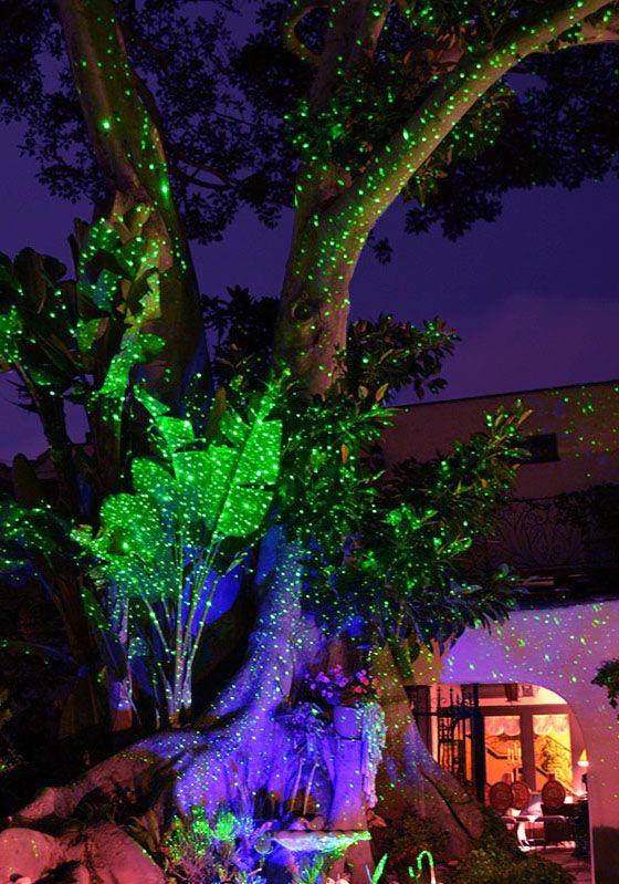 Instantly Add Magic To Your Yard With Energy Efficient Laser Lights Blisslights Laserlights Landscape Lighting Solar Lights Garden Landscape Design