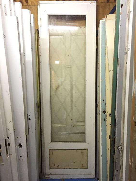 nr. 2147 enkele grote (schuif) deur met geslepen *glas