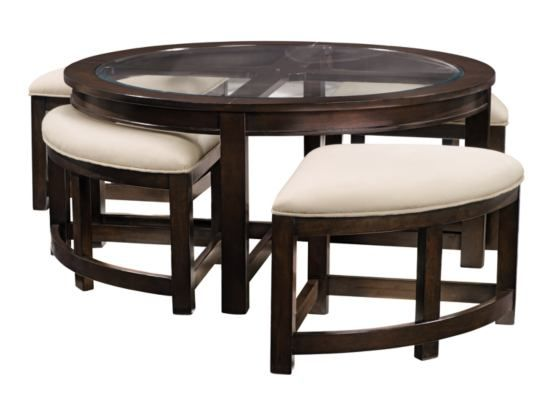Four corners cocktail tables and value city furniture on for Cocktail table with 4 benches
