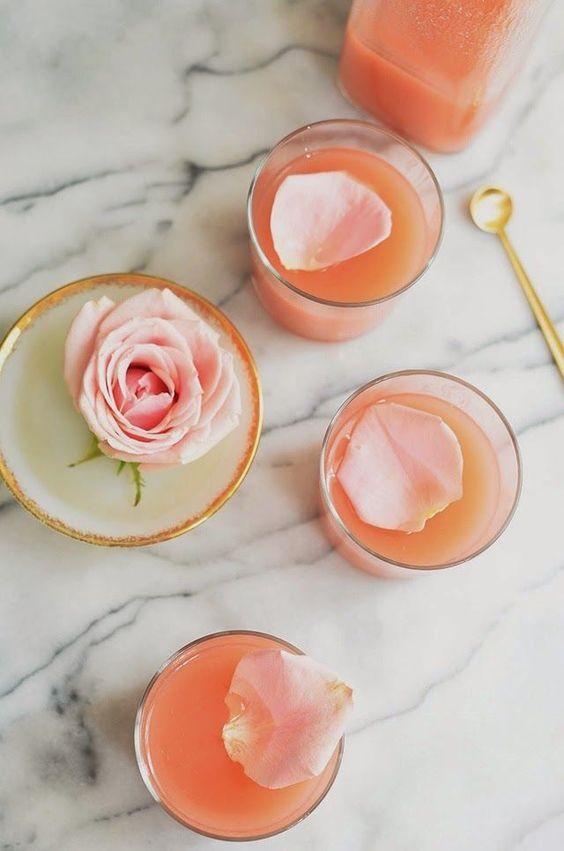 White peach and rose lemonade