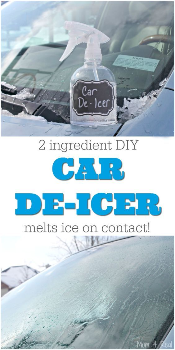 2 Ingredient Homemade Car De Icer Spray Removes Ice In Seconds Mom 4 Real Deicer Spray Wine Bottle Diy Cleaning Hacks