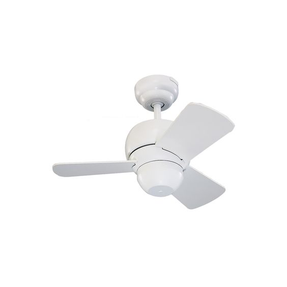 The Monte Carlo 24-inch Micro 24 Fan - White in white features a 153.0 X 10.0 3…