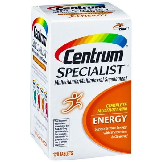 Centrum Specialist Complete Energy Multivitamin Produces Much Needed Energy Without The Help From Caffeine Or Other Multivitamin Vitamins And Minerals Vitamins