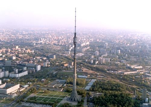 The Ostankino TV Tower, built from 1963 to 1967, is famous for its viewing platform: over 10 million guests have visited in the 30 years that the tower has had a viewing platform. Description from en.travel2moscow.com. I searched for this on bing.com/images