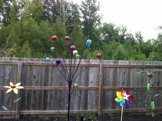 My bubble tree and garden decorations