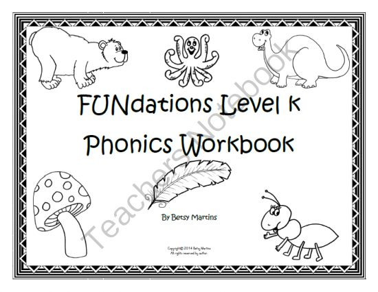 FUNdations Level K Phonics Workbook from TheSpecialtyShop on ...