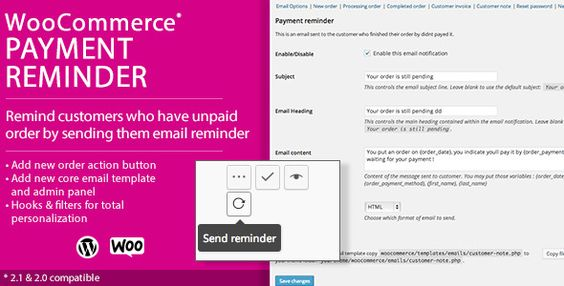 Woocommerce Payment Reminder  Wordpress Plugins