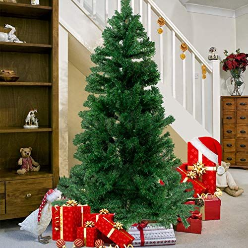 Bocca Christmas Artificial Pine Tree Full Branches With Strong Iron Stand Indoor And Outdoor Wall S Furniture Decor Christmas Tree Tree Christmas Home