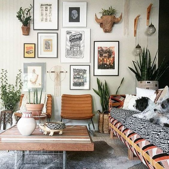 Living room turquoise tobacco turquoiseandtobacco - Bohemian urban fusion living room ...