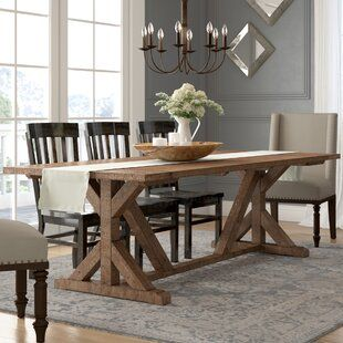 A J Homes Studio Helena Dining Table Wayfair In 2020 Dining Room Table Decor Farmhouse Dining Table Wood Dining Table