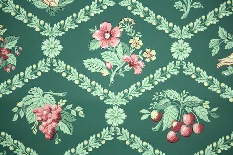 1940s Kitchen Vintage Wallpaper In 2021 Vintage Wallpaper 1940s Kitchen Flowery Wallpaper
