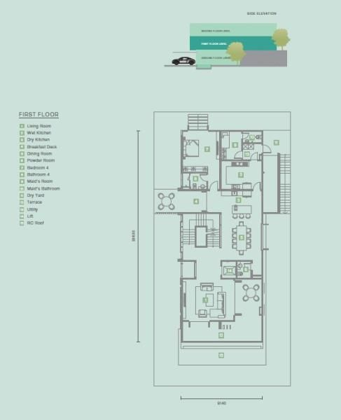 Sejati Residences Astonia Ii 3 Residences Floor Plans Bungalows For Sale