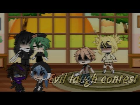 Evil Laugh Contest Bnha Mha Gacha Life Glmv Youtube Anime Funny Cute Drawings Evil