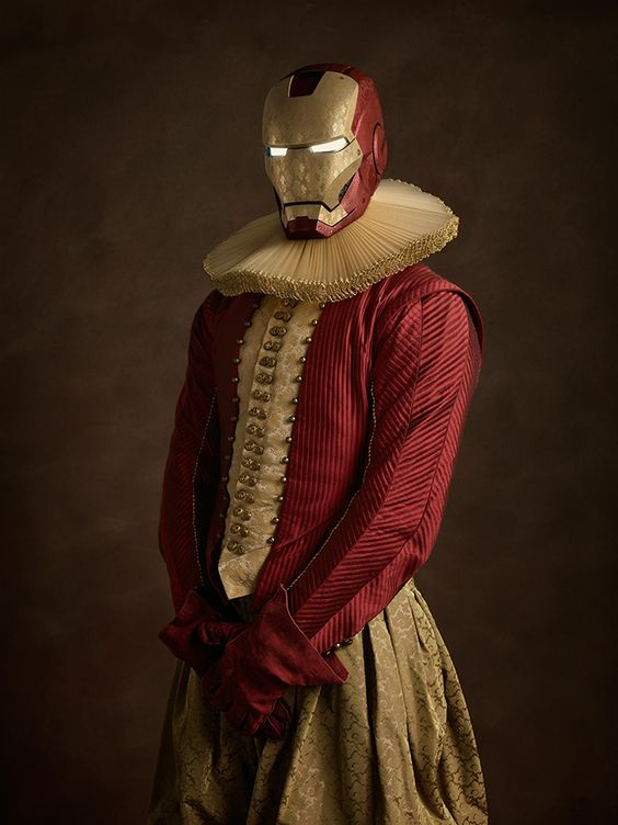 This French photographer reimagined our favorite superheroes as 16th century art. | Dearest Geeks of Earth #comicbooks #superheroes #SachaGoldberger #IronMan