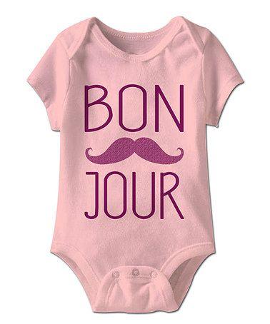 Look at this #zulilyfind! Light Pink Bonjour Bodysuit - Infant #zulilyfinds