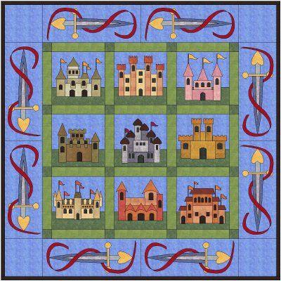 castle quilt block | Oranje Quilters' Guild