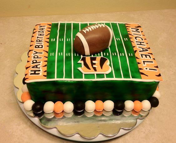 Decorating Ideas > Cincinnati Bengals Birthday Cake  White Velvet Butter  ~ 215317_Birthday Party Ideas Cincinnati