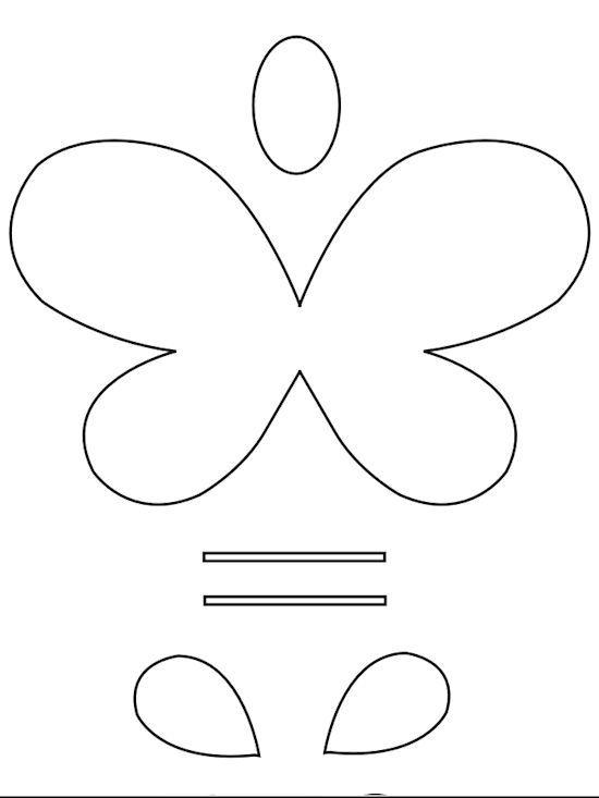 Smiley Butterflies Paper Craft Free Printable Crafts Paper Crafts For Kids Butterfly Template