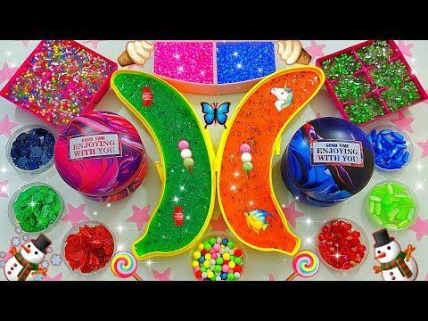 سلايم العاب مسلية طين اصطناعي صنع سلايم صلصال العاب اطفال اولاد وبنات سلايم شفاف Slime Videos Youtube Birthday Candles Candles Birthday