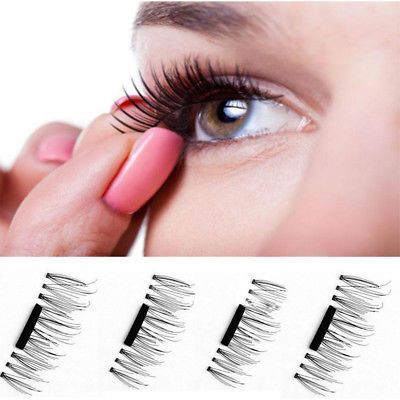 3D-Magnetic-4pcs-False-Eyelashes-No-Glue-Handmade-Natural-Extension-Eye-Lashes