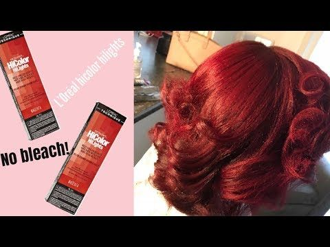 How To Dye Your Hair Red Without Bleach Ft Loreal Hicolor Highlights Magenta Red Youtube Red Hair Loreal Magenta Hair Loreal Hair Dye
