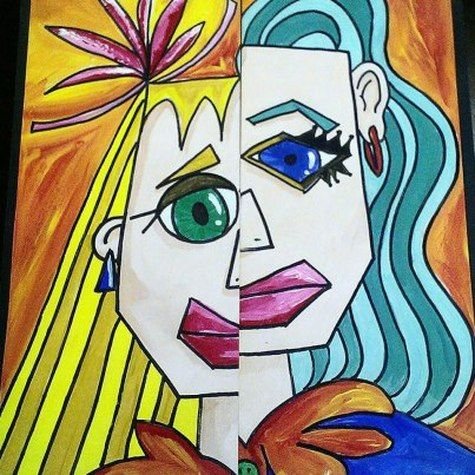Picasso inspired art lesson projects pinterest for Art plastique peinture
