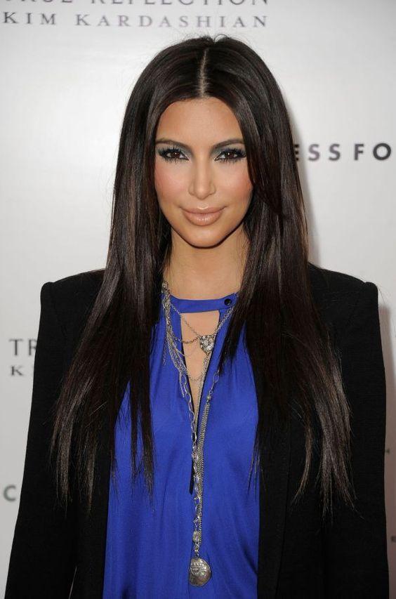 middle part straight hair | beauty | Pinterest | Kim ...