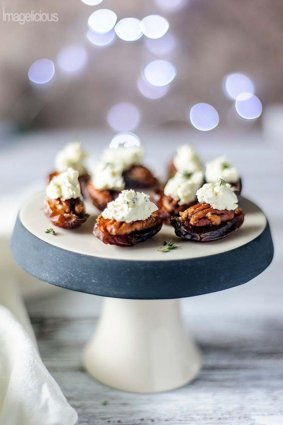 Pecan and Boursin stuffed Dates and Happy New Year - Imagelicious. New Year Inspirational Quotes as well as 9 Party Ideas.
