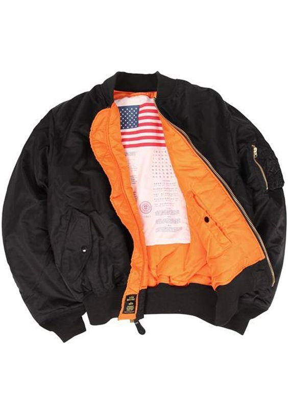 Alpha MA-1 Blood Chit Black Flight Jacket