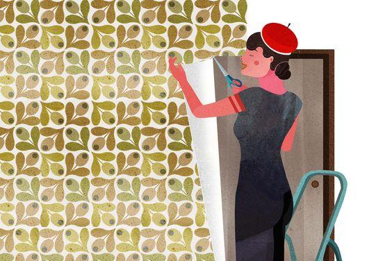 Wie tapeziere ich um Fenster und Türen
