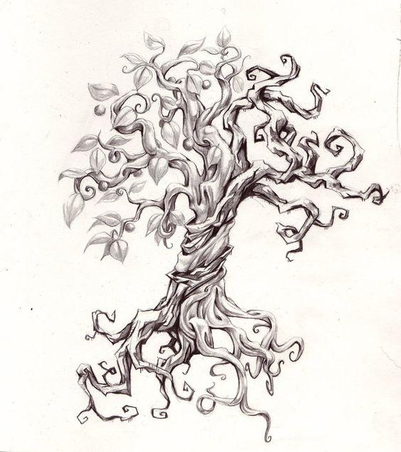 Split tree tatoo by joshuapeople on deviantart tattoos for Tree of knowledge of good and evil tattoo