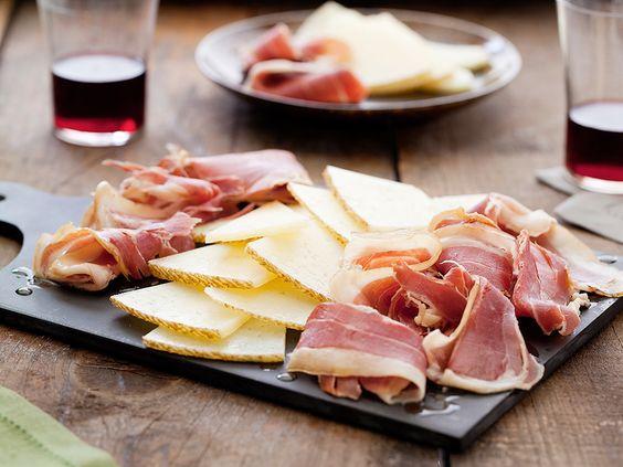 Serrano Ham and Manchego Cheese Plate