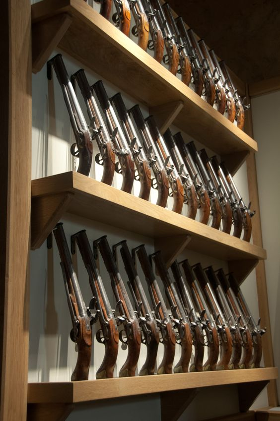 Flintlock Tower Pistols Stored In The Tower Of London