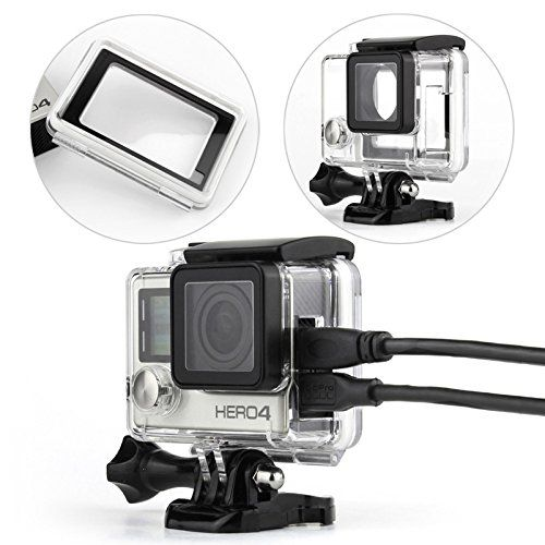 Wiserelecton Side Open Skeleton Housing For Gopro Hero4 Hero3 Hero 3 Cameras With Bacpac Touched Panel Lcd Screen Protective Backdoor And Lens Gopro Underwater Camera Dslr Photography Tips