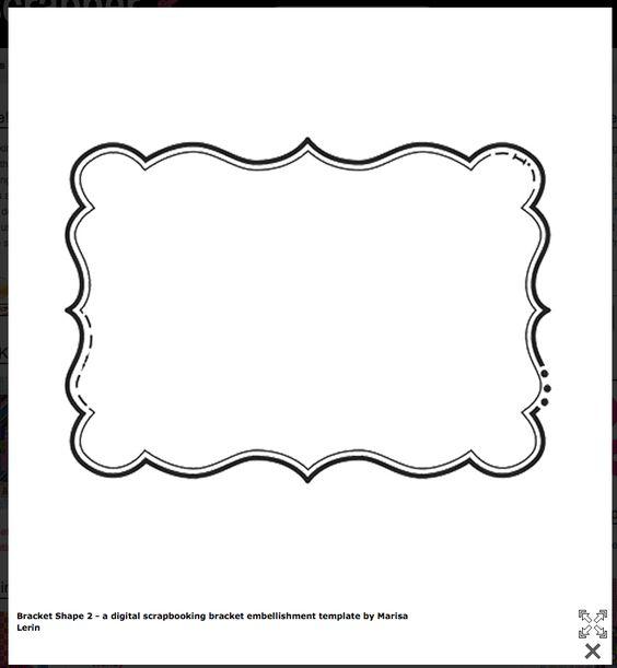 Bracket Shape- FREE Templates! | Stencil | Pinterest | Templates ...