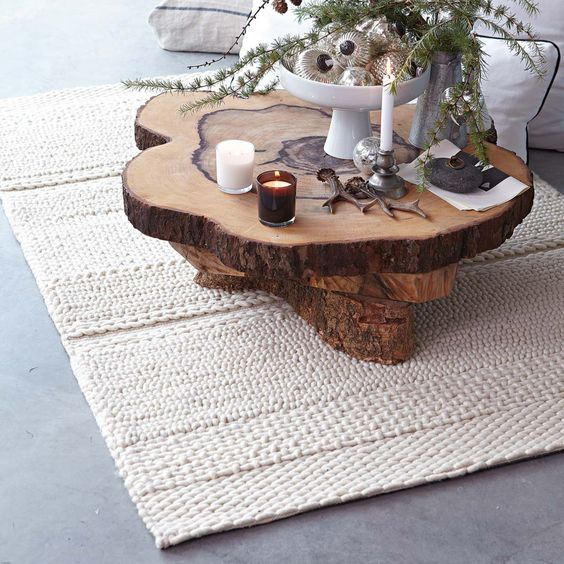 Rounds coffee table sticks twigs branches stumps logs for Tree slice coffee table