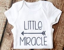 Little Miracle, Onesie, Miracle Baby, Newborn Miracle, Baby Girl, Baby Boy, Rainbow Baby, Girl Shirt, Glitter Shirt, Preemie, NICU,