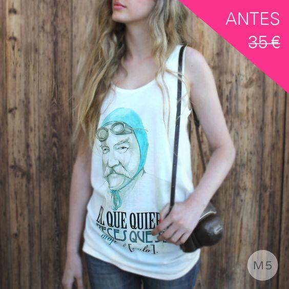 """T-shirt """"el que quiera peces que se moje el culo"""" (woman) sleeveless / miteta"""