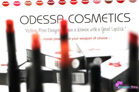 "ODESSA Cosmetics - ""Nothing's more dangerous than a woman with a great lipstick"""