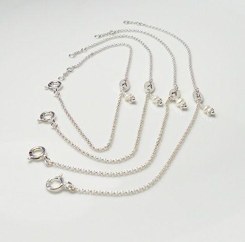 925 Silber ♥ Sweet Initial ♥ Brautjungfern-Set 4 von Andressâ auf DaWanda.com