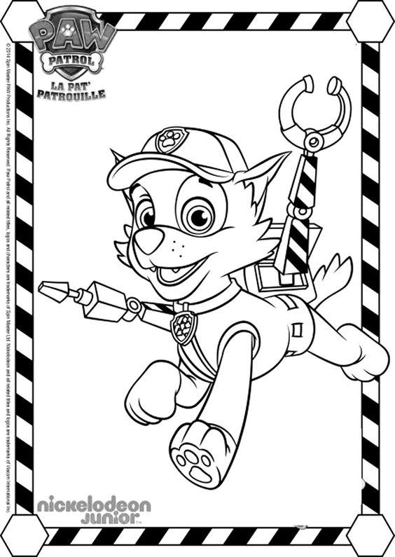 Pour imprimer ce coloriage gratuit coloriage pat patrouille rocky 3 cliquez sur l 39 ic ne - Coloriage pat patrouille ...