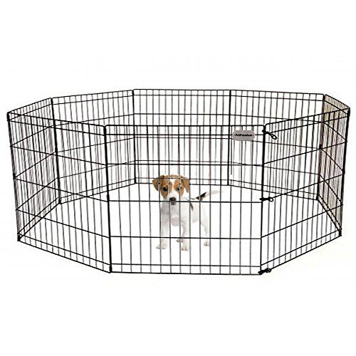 Pet Premium Dog Puppy Playpen Pen Indoor Outdoor Exercise Play Yard Outside Pet Small Animal Puppies Portable Foldable Fence Enclosures 24 Height 8 Pane Dog Playpen Puppy Playpen Small Pets