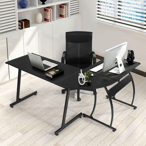 Greenforest Lshape Corner Computer Office Desk Pc Laptop Table Workstation Home Office 3pieceblack Corner Computer Desk Corner Desk Office Office Desk For Sale